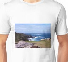 Land's End And Longships Lighthouse Cornwall Unisex T-Shirt