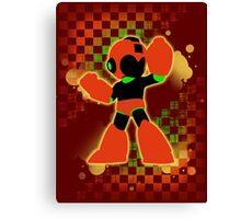 Super Smash Bros. Orange Mega Man Silhouette Canvas Print