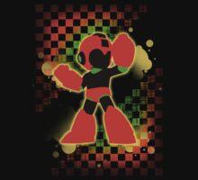 Super Smash Bros. Orange Mega Man Silhouette Baby Tee