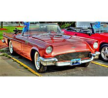 1957 Thunderbird-front side view Photographic Print