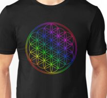 Flower of Life rainbow colors Unisex T-Shirt