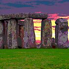 Stonehenge Sunset by trobe