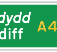 Cardiff, UK Road Sign Sticker