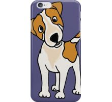 Cool Funny Jack Russell Terrier Puppy Dog Art iPhone Case/Skin