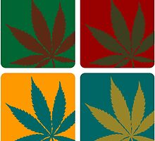Cannabis Leaf Warhol by muli84