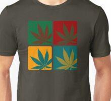 Cannabis Leaf Warhol Unisex T-Shirt