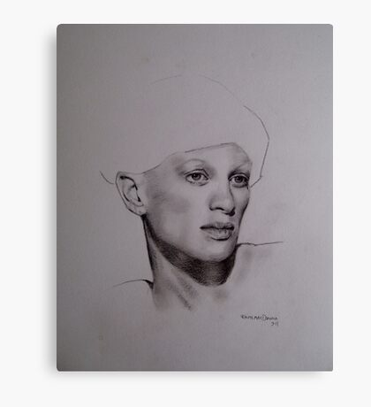 original pencil drawing on paper Canvas Print