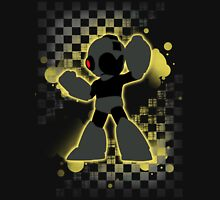Super Smash Bros. Black/Yellow Mega Man Silhouette T-Shirt