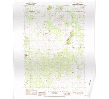 USGS Topo Map Oregon Last Chance Lake 280470 1983 24000 Poster