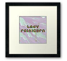 Lady Rainicorn Framed Print