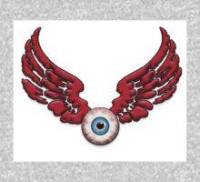 Flying Eyeball Red wings One Piece - Long Sleeve