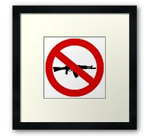 Weapons Prohibition sign Framed Print
