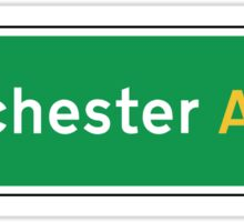Manchester, UK Road Sign Sticker