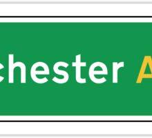 Manchester, UK Road Sign Sticker