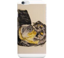 Rottweiler oil painting iPhone Case/Skin