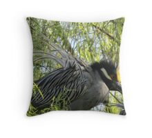 Herons courtship Throw Pillow