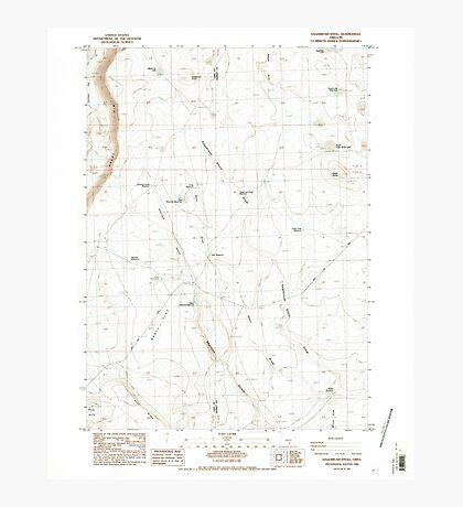 USGS Topo Map Oregon Sagebrush Knoll 281358 1984 24000 Photographic Print