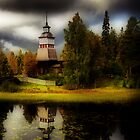 A church by a lake II by Juhana Tuomi