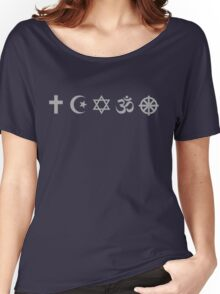 Religions symbols Women's Relaxed Fit T-Shirt