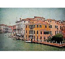 Venetian Canal Intersection Photographic Print
