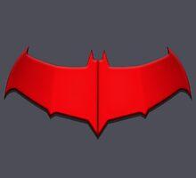 Red Hood Bat Symbol by julianarnold