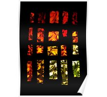 Fiery stained glass Poster