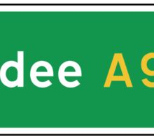 Dundee, UK Road Sign Sticker