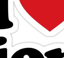 I Love Heart Lions Sticker Sticker