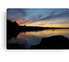 Graceful Sky - Lake Sunset Canvas Print