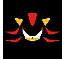 Shadow the Hedgehog Minimalistic Design Photographic Print