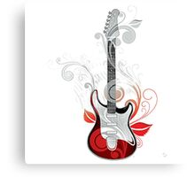 The flower guitar  Canvas Print