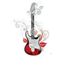 The flower guitar  Photographic Print