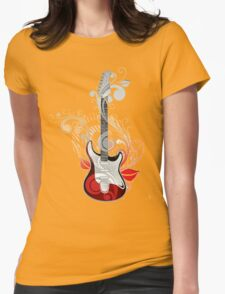 The flower guitar  Womens Fitted T-Shirt