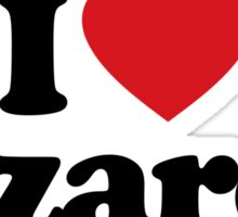 I Love Heart Lizards Sticker Sticker