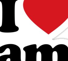 I Love Heart Llamas Sticker Sticker