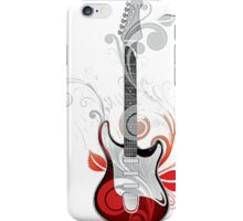 The flower guitar  iPhone Case/Skin