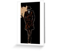 Rorschach In The Dark Greeting Card