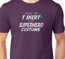 Under this T-shirt is my Superhero Costume - Bone Marrow Ribbon Unisex T-Shirt