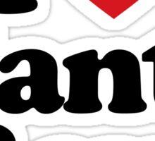 I Love Heart Manta Rays Sticker Sticker