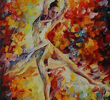 CANDLE FIRE - LEONID AFREMOV by Leonid  Afremov