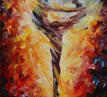 BALLET JUMP - LEONID AFREMOV by Leonid  Afremov