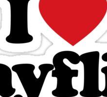 I Love Heart Mayflies Sticker Sticker