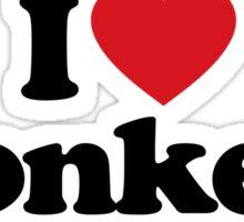 I Love Heart Monkeys Sticker Sticker