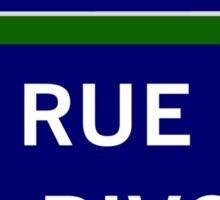 Rue de Rivoli, Paris Street Sign, France Sticker