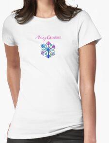 Joyful Snowflake Womens Fitted T-Shirt