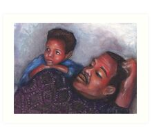A Boy and His Dad Art Print