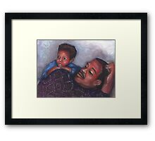 A Boy and His Dad Framed Print