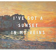 sunset in my veins Photographic Print