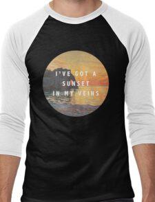 sunset in my veins Men's Baseball ¾ T-Shirt