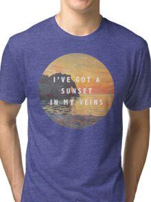 sunset in my veins Tri-blend T-Shirt